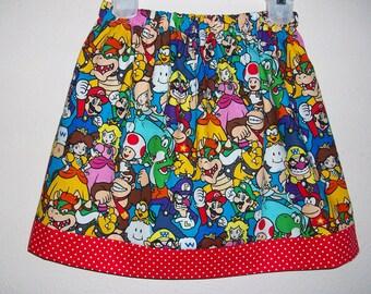 Super Mario Bros Skirt Nintendo Princess Peach Skirt Yoshi Party Skirt toddler skirt girls skirt Birthday Skirt Twirl Skirt