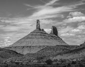 Utah Photography, Southwest Wall Art, Desert Photography, Black and White, Utah National Park, Travel Photography Utah Decor