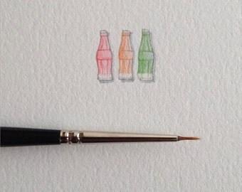 Miniature Painting of Wax Bottles by Brooke Rothshank