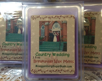 Country Wedding Clamshell Wax Tart Melts