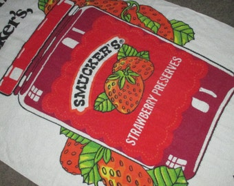 Vintage FAB Smuckers Strawberry Preserves Advertising Graphic Beach Towel