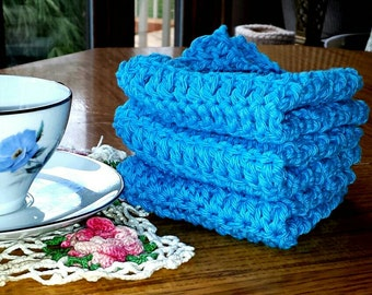 Crochet Cotton Washcloths Dishcloths Handmade Crochet Cotton Wash Cloths Dish Cloths Blue Dish Rag