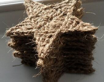 Rustic Crochet Jute Star (set of 10)