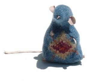 Blue Argyle Sweater Scrap Rat