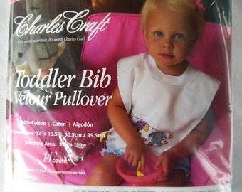 Charles Craft Pullover Toddler Bib to Cross Stitch