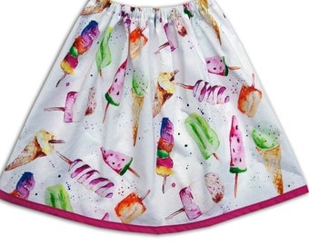 Girl's Ice Cream Skirt / Ice Lolly / Ice Pops /Children's / Kids / Baby Clothes