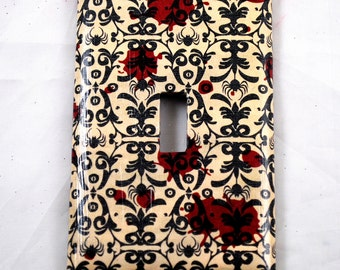 Switch Plate - Gothic Blood Splatter - Home Decor  - Single Switch - Unique - Gifts under 10
