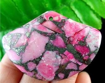 CLEARANCE SALE 60% OFF Beautiful Sea Sediment Jasper & Pyrite Pendant Bead