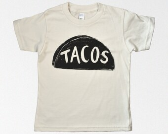 Kids Taco Tuesday Organic Cotton Tshirt, graphic tee, toddler gift, organic clothing, cool urban shirt, unisex organic baby clothes