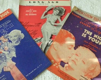 Art Deco 1930s 1940s Music Sheets Rita Hayworth