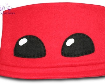 Super Meat Boy Hat / Fleece Hat / Winter Hat / Meat Boy Hat / Video Game Characters