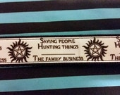 Supernatural Saving People Hunting Things Ribbon Key Fob