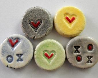 handmade ceramic love tokens