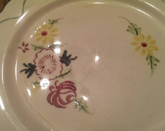 Vintage Taste Seller by Sigma Hand-Painted Dessert or Salad Plate