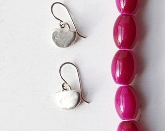 Slice Earrings - Sterling Silver Simple Silver Earrings