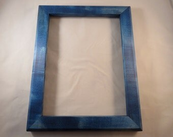9x12 Maple Blue Dye Picture Frame
