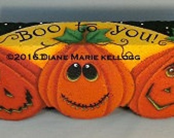 E16007 Boo to you! Funky Pumpkins Pattern Packet from Oil Creek Originals