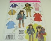 "Simplicity American Girl 18"" Doll Clothes Pattern 3551 One Size New Reduced Price"