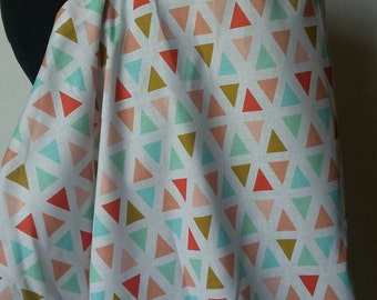 Nursing Cover, Breastfeeding Feeding Cover up, Nursing cover up,  PEACH Gold Triangles