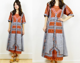 vintage ethnic kaftan, kaftan dress, boho kaftan, caftan, hippie dress, tent dress, boho dress, embroidered kaftan, hippie kaftan