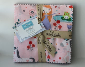 SALE 5 inch charm squares PRINCESS DREAMS by Riley Blake Designs fabric