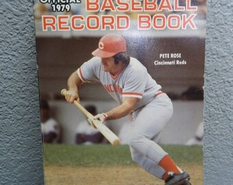 ON SALE Pete Rose/1979 Official Baseball Record Book Batting Records Left Hand Batters, Cincinnati Reds Managers  Rookies Baseball Pete Rose
