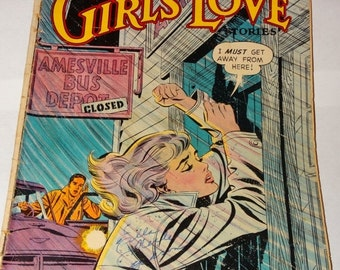 Valentines Day Sale 1959 Girls Love Romance Comic Book, From Here to Heartbreak, Valentines Romance, My Secret Love, Waiting, A Lifetime of