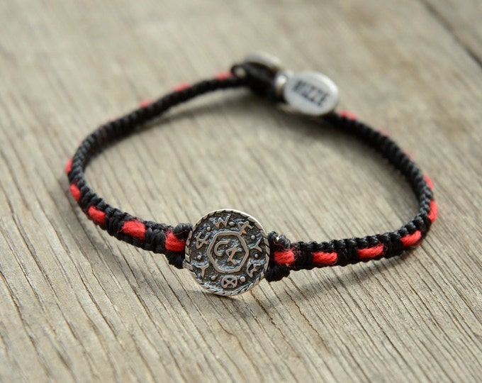 Livelihood Amulet Handwoven with Red String Bracelet