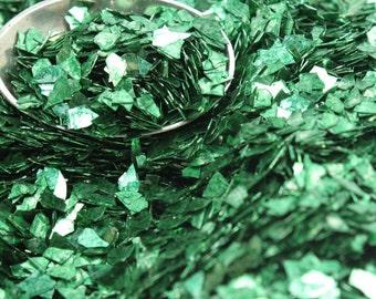 Green - Forest Green Super Shard Glitter art glitter craft glitter decor glitter glass glitter artist glitter german glitter - SSG-Forest G