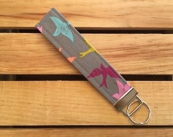 Womens Fabric Key Fob Wristlet Key Chain