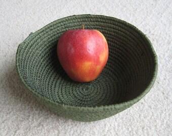 Leaf Green Fabric Coil Clothesline Bowl
