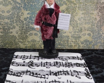 Beethoven Doll- Music Diorama- Composer Greats- Classical Music- Art Miniature