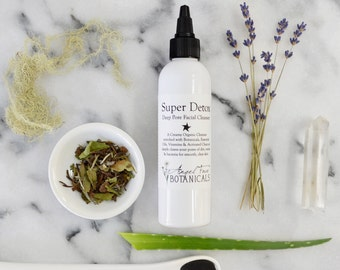 Super-Detox - Organic Deep Pore Facial Cleanser with Activated Charcoal and Argan Oil 8.9 oz - Top Selling Natural Face Wash