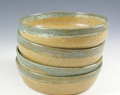 Handmade  Pottery Bowl Set, 6 inch,  Farmhouse Pottery, Kitchen Decor, Salad bowls, Dessert Bowls, Kitchen Gourmet Gift, Food Prep Bowls