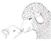 Lamb Nursery Art Sheep Nursery Decor Cute Lamb Art Print Sheep Nursery Art Lamb Farm Animal Nursery Decor Black and White Nursery Wall Art