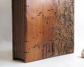Photo album Scrapbook Black pages Distressed Old wood