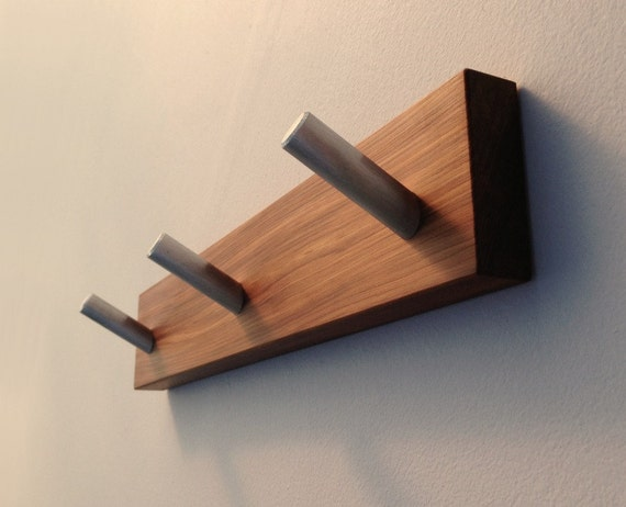 Coat Rack Recycled Wood Modern Wall Mounted by