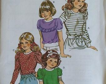 Kwik Sew Girls Tops Pattern 1236