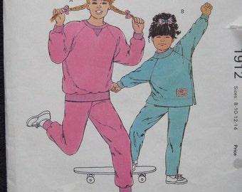 Kwik Sew Girls Jogging Suit Pattern 1912