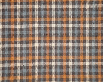 Homespun Fabric | Check Fabric | Cotton Fabric | Primitive Fabric | Rag Quilt Fabric | Home Decor Fabric | 1 Yard