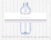 Chevron Water Bottle Labe...