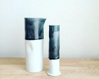 Tall porcelain vase pitcher