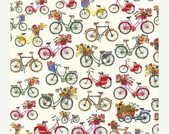 25% OFF Flower Pedals Bicycles by Carolyn Gavin for Windham Fabrics