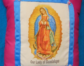 Our Lady Guadalupe Story Pillow - Pink