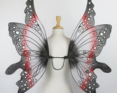 Fairy Wings - Alice in Wonderland - Tweedle Dum - Adult sized - Handmade - Perfect for costume, fairy photography - Ariel design