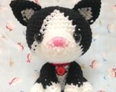 Amigurumi Cat / Crocheted Cat --- Black and White Cat - Hachiware
