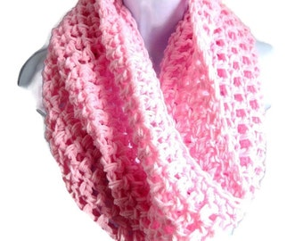 "Pink Scarf Cowl-  Extra Large Chunky Scarf   ""Buy one get one 50% off lowest price"", Pink infinity scarf, bogo scarf"