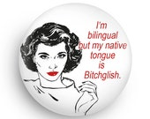 Funny Snarky, Retro 80's Magnet or Pinback, Fun Gift for Co-Worker or Friend