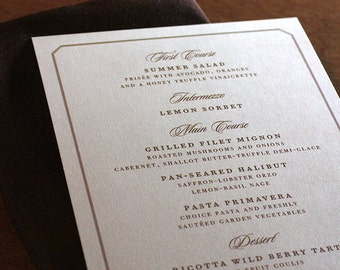 Belle Mer Menu, Table Marker & Place Card Set