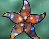 Starfish Stained Glass Suncatcher